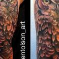 Arm Realistic Owl tattoo by Art Junkies Tattoos