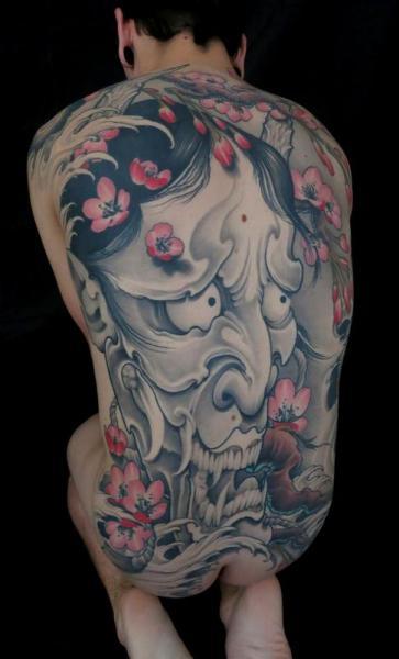 Japanese Back Demon Tattoo by Art Junkies Tattoos