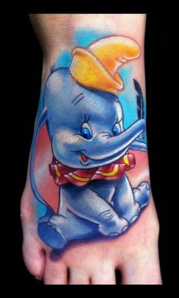 Fantasy Foot Dumbo Tattoo by Art Junkies Tattoos