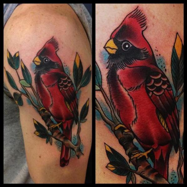 Schulter Realistische Papagei Tattoo von Art Junkies Tattoos