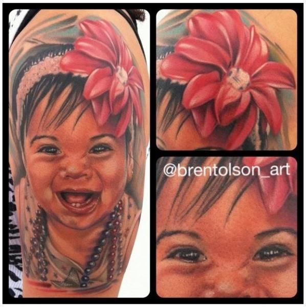 Shoulder Portrait Realistic Tattoo by Art Junkies Tattoos