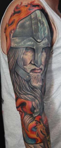 Shoulder Warrior Tattoo by Art Junkies Tattoos