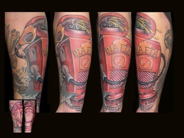 Arm Fantasy Fuel Pump Tattoo by 1969 Tattoo