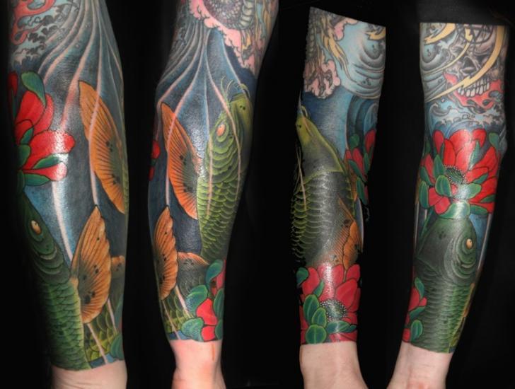 Arm Japanese Carp Koi Tattoo by 1969 Tattoo
