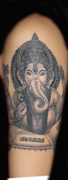 Arm Religious Ganesh Tattoo by 1969 Tattoo