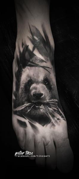 Foot Panda Tattoo by 1969 Tattoo