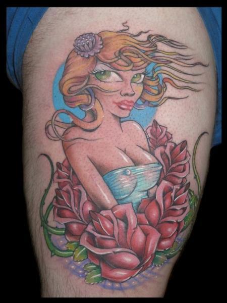 Tatuaggio Gamba Personaggi di 1969 Tattoo