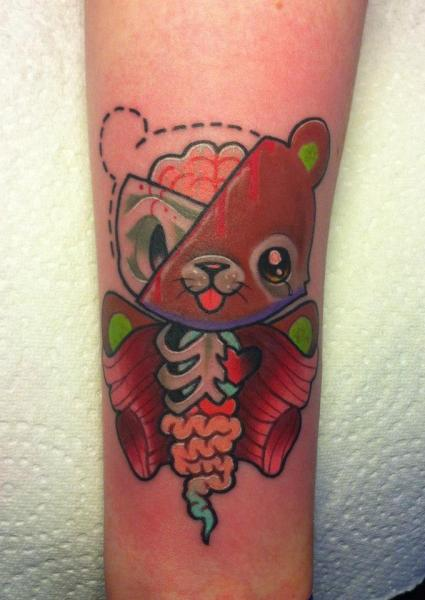 Arm Fantasy Bear Tattoo by Evil From The Needle