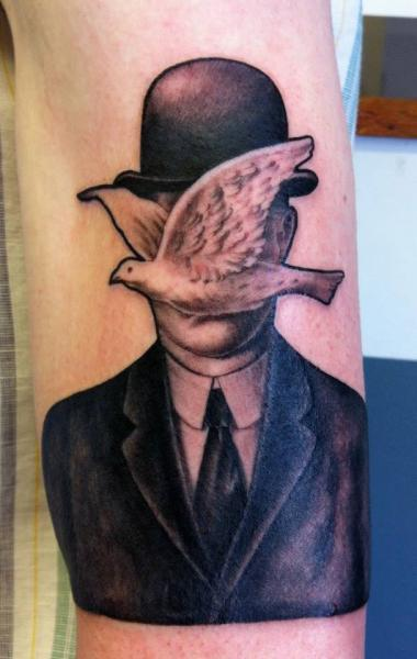 Arm Fantasy Men Hat Dove Tattoo by Evil From The Needle