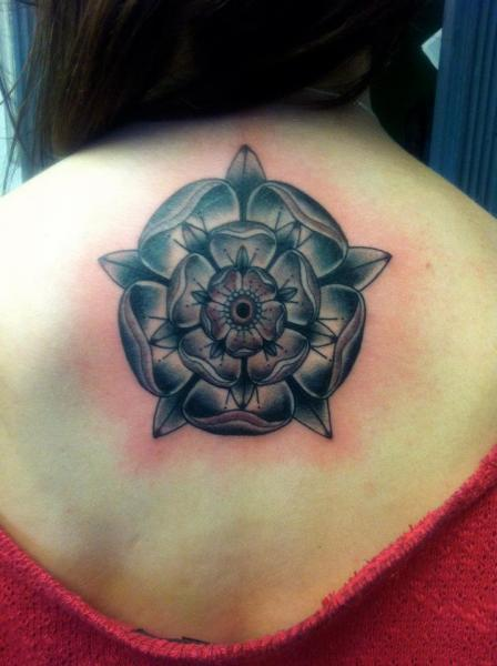 Flower Back Tattoo by Evil From The Needle