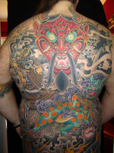 Japanese Back Demon Tattoo by Evil From The Needle