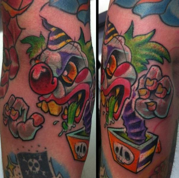 Fantasy Clown Tattoo by Evil From The Needle