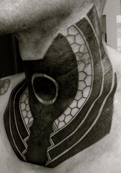 Tribal Neck Maori Tattoo by Evil From The Needle