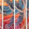 tatuaggio Spalla Realistici Uccello di Evil From The Needle