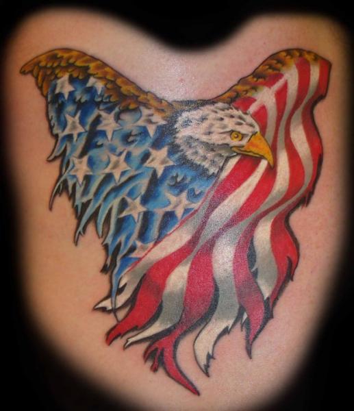 Tatouage Aigle Usa Drapeau Par Rogue Leader Tattoo