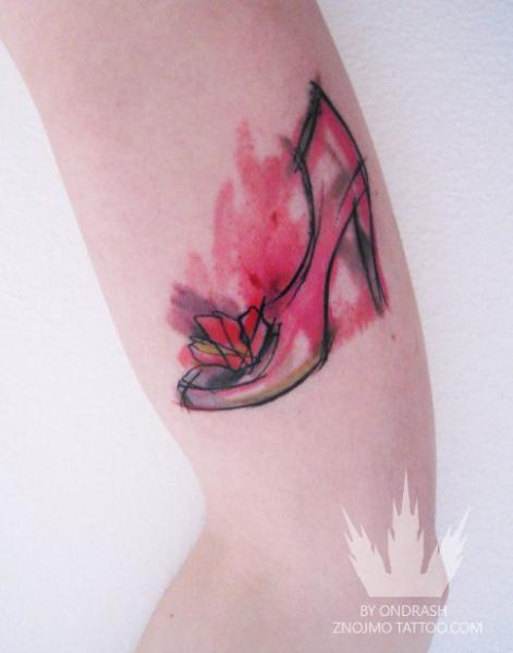 Arm Shoe Tattoo by Ondrash Tattoo