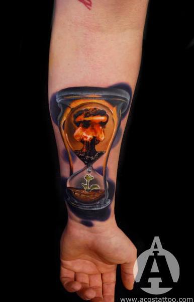 Arm Clepsydra Tattoo by Andres Acosta