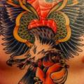 Chest Old School Anchor tattoo by Roman Kuznetsov Tattoo