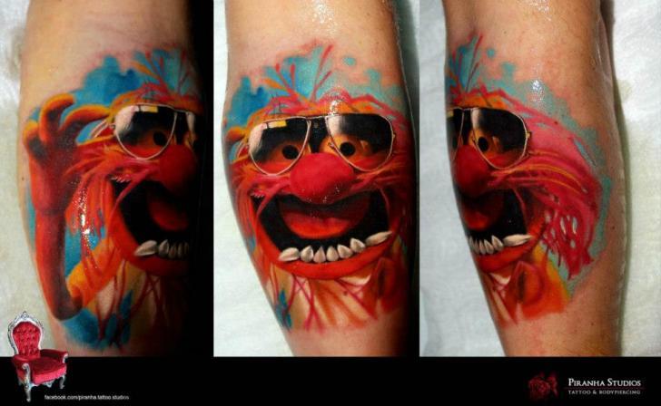 Arm Fantasy Character Tattoo by Piranha Tattoo Supplies