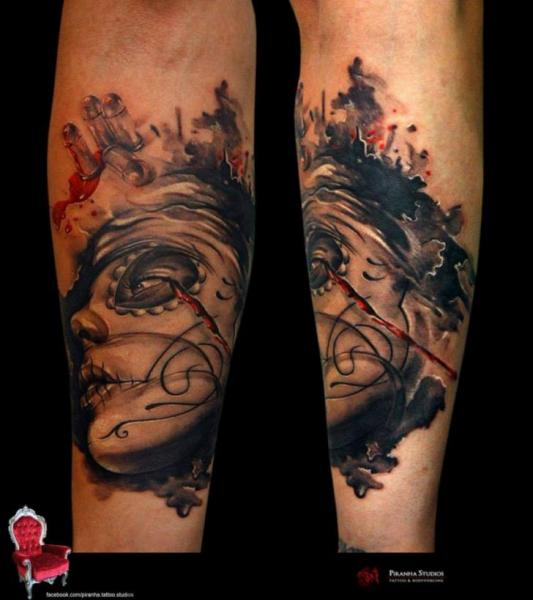 Arm Mexican Skull Tattoo by Piranha Tattoo Supplies