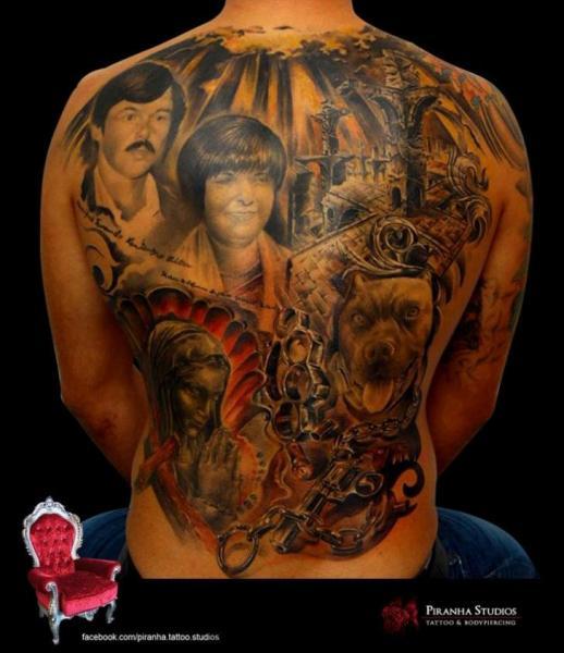 Realistic Back Tattoo by Piranha Tattoo Supplies