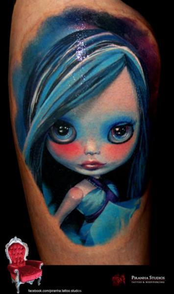 Fantasy Character Tattoo by Piranha Tattoo Supplies
