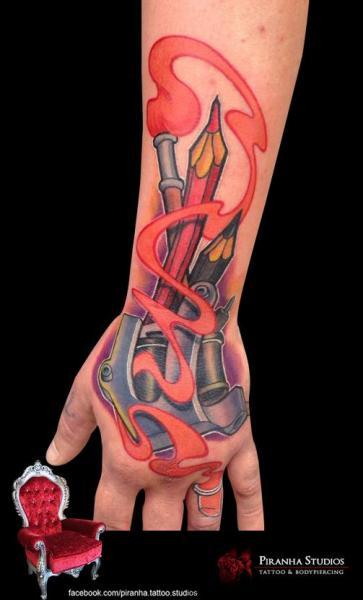 Fantasy Hand Pencil Tattoo by Piranha Tattoo Supplies