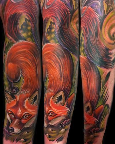 Arm Fuchs Tattoo von Vince Villalvazo