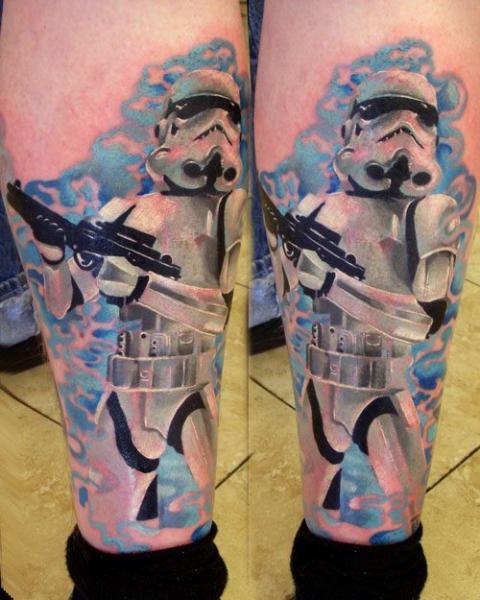 Tatuaje Fantasy Ternero Robot por Vince Villalvazo