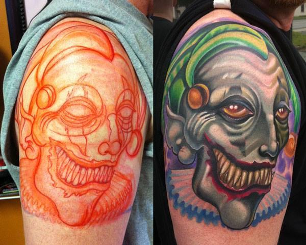 Fantasie Joker Tattoo von Vince Villalvazo