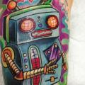 Arm Fantasy Robot tattoo by Tantrix Body Art