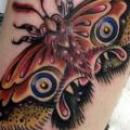 Arm New School Moth tattoo by Tantrix Body Art