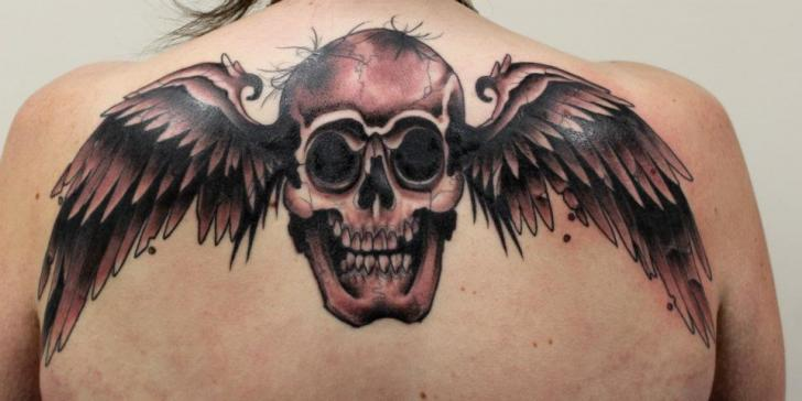Top 100 Best Stomach Tattoos For Men - Masculine Ideas  |Skull Tummy Tattoo Wings