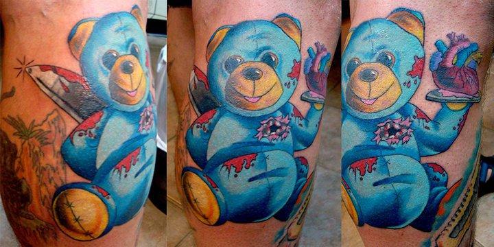 Tatuaggio Fantasy Polpaccio Orso Burattino di Tantrix Body Art