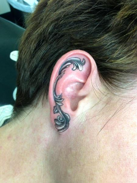 Ear Abstract Tattoo by Tantrix Body Art