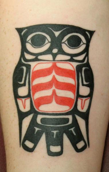 Tribal Owl Tattoo by Tantrix Body Art