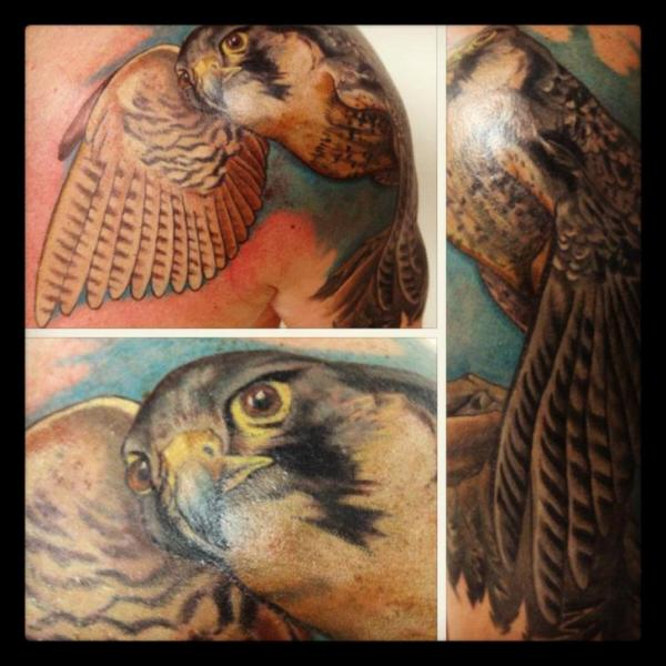 Shoulder Realistic Eagle Tattoo by Tantrix Body Art