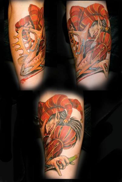 Arm Fantasy Joker Tattoo by Artic Tattoo