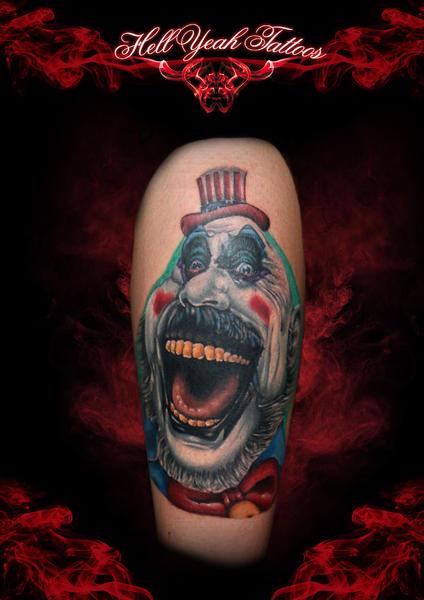 Tatuaggio Braccio Fantasy Pagliaccio di Hellyeah Tattoos