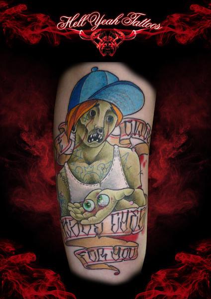 Tatuaggio Braccio Fantasy Zombi Cappello di Hellyeah Tattoos