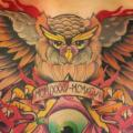 New School Chest Owl God tattoo by Hellyeah Tattoos