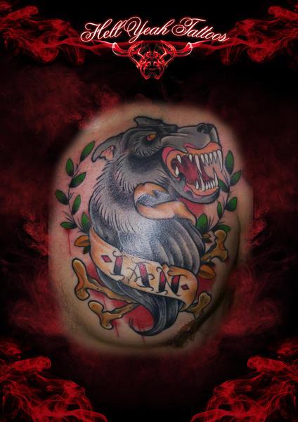 Wolf Bone Tattoo by Hellyeah Tattoos