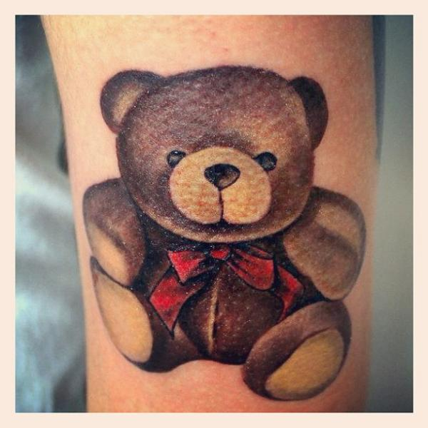 Arm Bear Puppet Tattoo by Fatih Odabaş