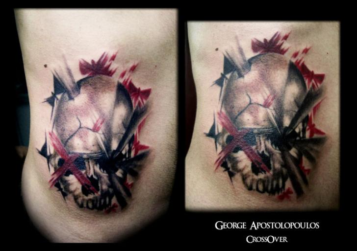 Fantasy Side Skull Tattoo by Crossover
