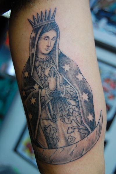 Arm Religious Tattoo by Illsynapse