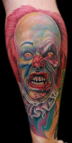 Arm Fantasy Clown Tattoo by Cecil Porter