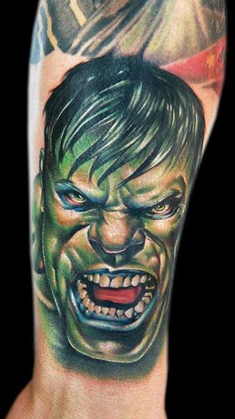 Arm Fantasie Hulk Tattoo von Cecil Porter