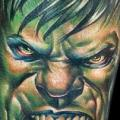 Arm Fantasy Hulk tattoo by Cecil Porter