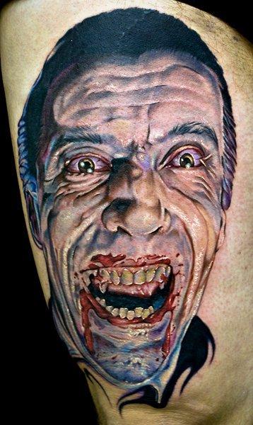 Arm Fantasy Vampire Tattoo by Cecil Porter