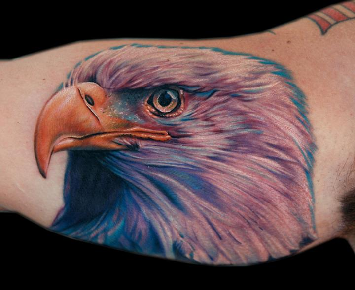 Arm Realistic Eagle Tattoo by Cecil Porter